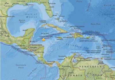 洪都拉斯北部海域发生7.6级地震 或能造成海啸让人很担心