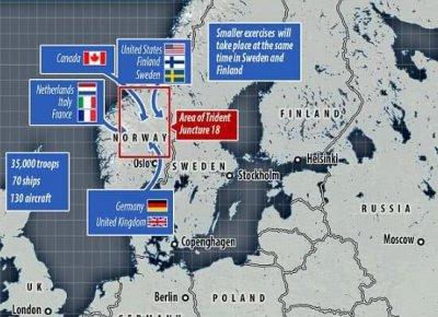 北约 挪威军演 预计出动3万多士兵规模堪称历届军演最大