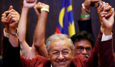 92岁马哈蒂尔就职大马总理 系全球年龄最大的领导人
