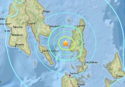 菲律宾5.6级地震 根据美国地震局测定震源深度大约10公里
