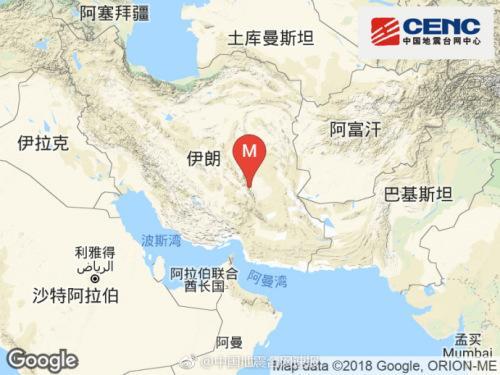 7月23日4时39分伊朗发生5.5级地震 震源深度20千米