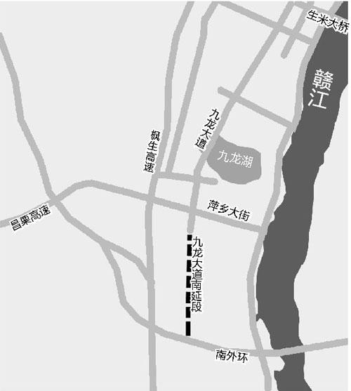 南昌九龙大道将南延连接南外环