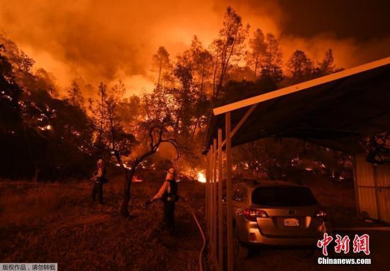 美国加利福尼亚州门多西诺地区火灾7日已成为加州史上最严重山火事件
