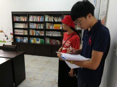海州区新东街道:刘艞社区综合文化服务迎接区文体局检查验收
