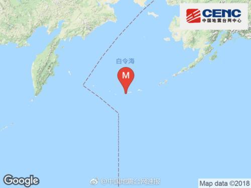 8月16日5时56分安德烈亚诺夫群岛发生6.6级地震 震源深度10千米