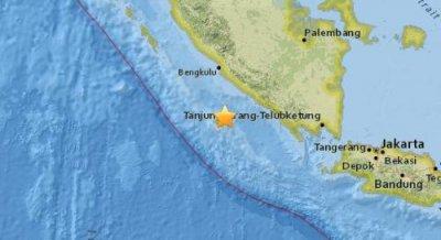 北京时间9月12日15时27分印度尼西亚西南部附近海域发生5.1级地震