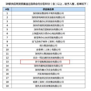 智慧零售助力政采 苏宁入围未来两年深圳政府采购