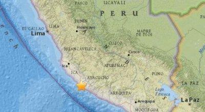 北京时间9月26日6时56分秘鲁西南部沿海地区发生5.2级地震