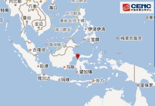 10月1日13时43分印度尼西亚发生5.3级地震 震源深度20千米