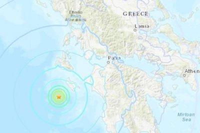 北京时间30日10时59分左右希腊西南部海域发生5.6级地震