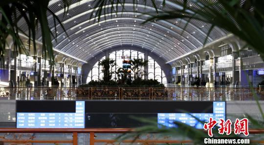 图为新建牡丹江站。(张秀峰摄)