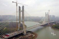 宣城水阳江大道闭合段北段工程水阳江大桥合拢 距贯通又迈出坚实一步