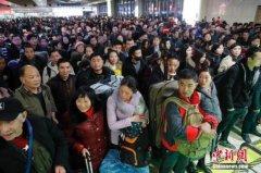 春运前五日全国发送旅客3.49亿人次 其中铁路发送旅客994.2万人次