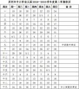 苏州中小学新学期校历公布 4月中下旬开展期中考试