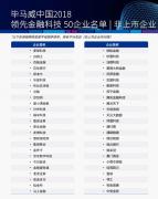 创新前行再获认可,通付盾荣膺2018中国领先金融科技企业50强