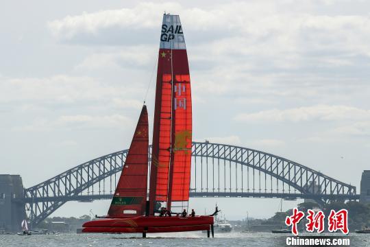 中国队帆船在比赛中。赛事方提供