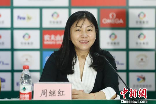 中国游泳协会主席周继红对本次参赛的运动员表达了期许 <a target='_blank'  data-cke-saved-href='http://www.chinanews.com/' href='http://www.chinanews.com/'>中新社</a>记者 韩海丹 摄