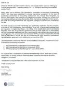 国际专业会计师公会IAAP 总裁向中财国融致贺信
