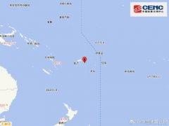 3月10日16时12分斐济群岛地区发生6.1级地震 震源深度570千米