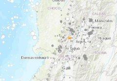 24日凌晨3时21分许哥伦比亚西南部发生6.1级地震 未传出伤亡或损害灾情
