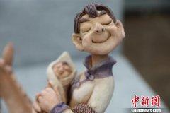 宁夏银川市清明节泥塑展开幕