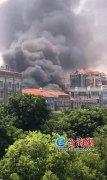 漳州龙海市一家具仓库突发大火 所幸火灾没有造成人员伤亡