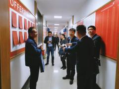 兰州市教育局领导一行莅临南京北大青鸟指导交流工作!