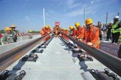 京雄城际北京段铺轨用北斗定位 每天铺轨7.5公里