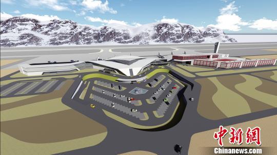 图为日喀则定日机场设计效果图。受访单位供图
