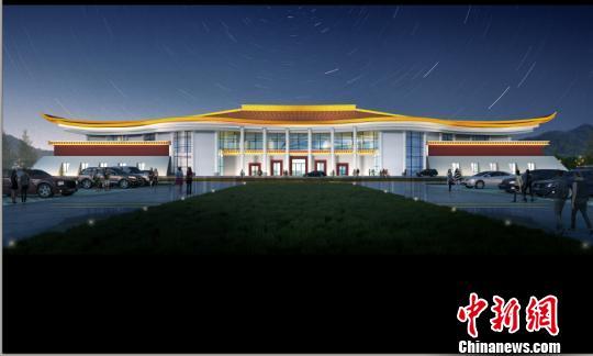 图为山南隆子机场设计效果图。受访单位供图