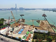 金鸡湖隧道火热建设中 项目总投资约60.2亿元