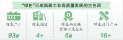 新疆已有绿色工厂93家 绿色工厂占规模以上工业企业比例排名全国第一