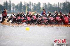 武汉举行端午龙舟赛 设置两个竞赛项目