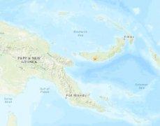 北京时间21日14时38分巴布亚新几内亚新不列颠岛西部发生5.3级地震