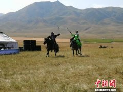 新疆塔城额敏县举办阿肯阿依特斯文化旅游节