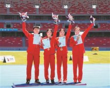 顺德杏坛双胞胎姐妹在全国第二届青年运动会上夺得七项冠军