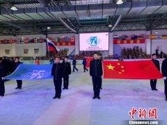 2019年国际冰盘联合会首届中国冰盘国际公开赛在哈尔滨拉开帷幕