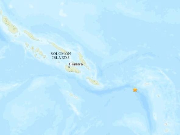 所罗门群岛东南部海域发生5.0级地震震源深度10公里