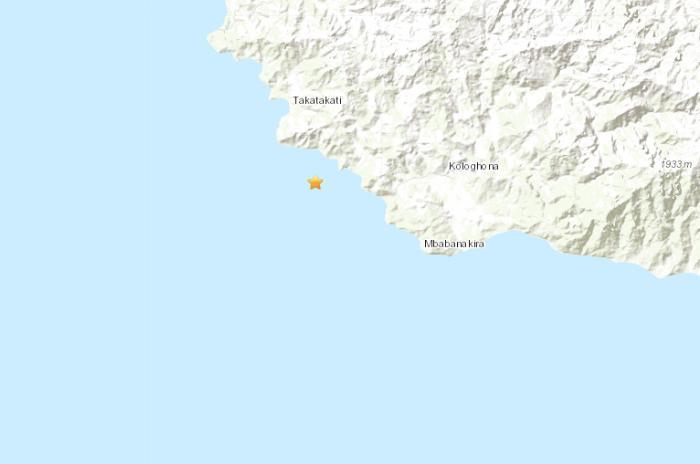所罗门群岛南部海域发生5.1级地震震源深23.3公里