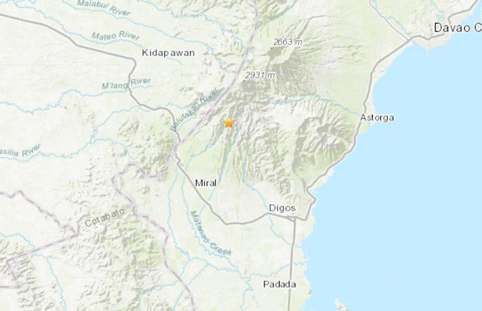 菲律宾发生6.8级地震震源深度50.3公里
