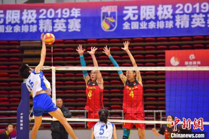 来自全国多地的球队参加比赛(黑龙江省排球协会提供) 王妮娜 摄