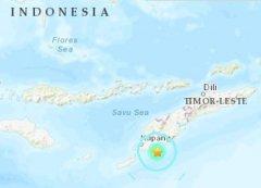 北京时间15日15时55分印尼帝汶岛附近海域发生5.5级地震