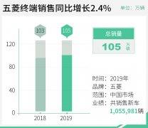 2019年上汽通用五菱共销售1660007辆 其中五菱品牌累计销售1055981辆