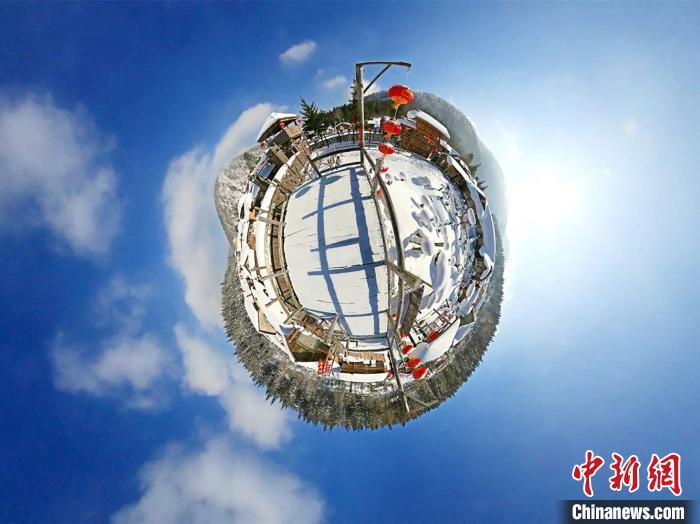 中国雪乡VR鸟瞰图 全景龙江供图 摄
