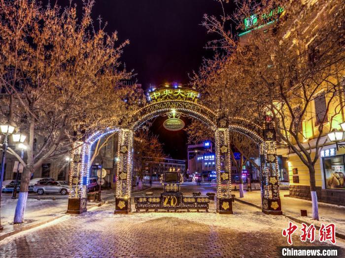 哈尔滨中央大街冬季VR虚拟体验 全景龙江供图 摄