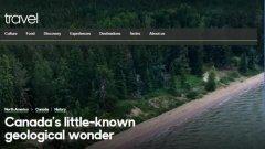 加拿大神秘湖泊现紫色海滩 沙子还具有粉红色光泽