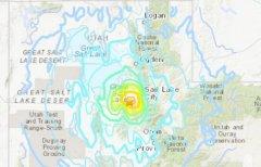 北京时间18日21时9分美国犹他州发生5.7级地震