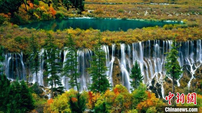 九寨沟诺日朗瀑布(资料图)。九寨沟景区供图