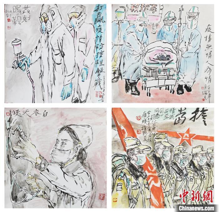 孙海青《担当》组画。太原美术馆供图