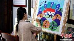 上海农民画家手绘二十四节气图 将有十三幅作品被后期制作以诗